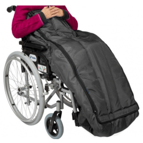Flot og varm kørepose til brug i kørestolen