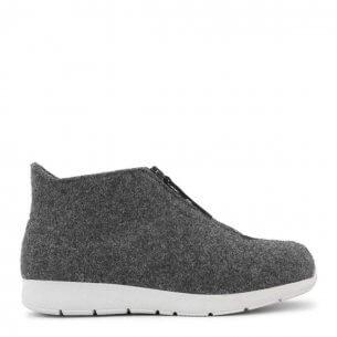 New Feet hjemmesko i uld med kort skaft (antrasith-grå)