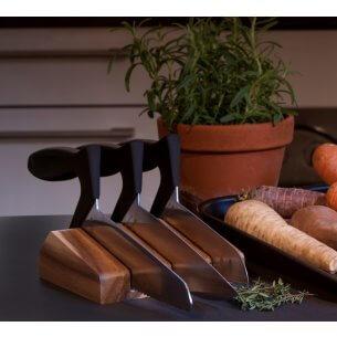 Sampak af Webequ køkkenknive og knivblok