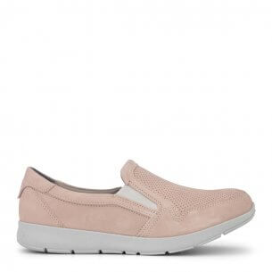 New Feet loafer i rosa nubuck