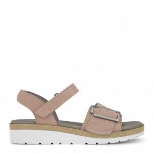 New Feet damesandal i rosa.