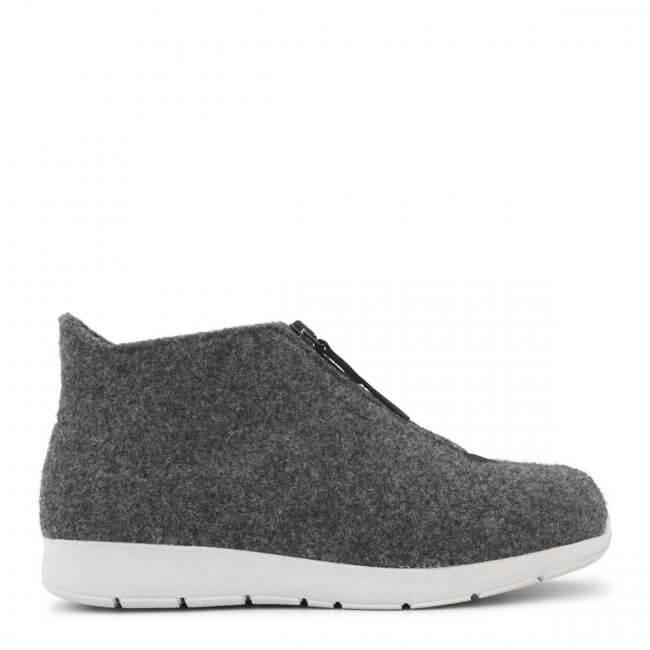 ef0a8f939b1 New Feet hjemmesko i uld med kort skaft (antrasith-grå)