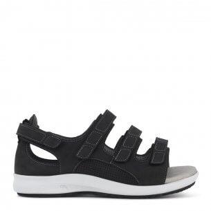 New Feet damesandal i olieimprægneret læder - ekstra bred