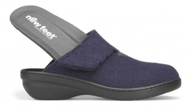 3017e0d042c Hjemmesko i uld fra New Feet - lille hæl uden hælkappe