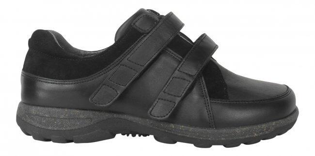 fcfb3a8f3cd Sko fra New Feet i klassisk design med strækskind - ekstra bred