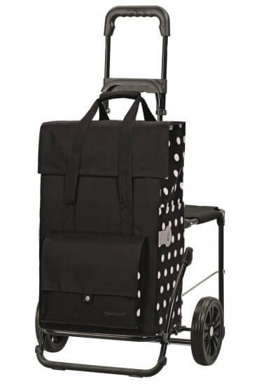 God indkøbsvogn med et praktisk sæde