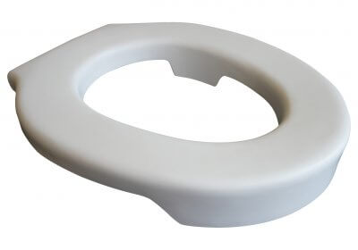 Blødt toiletsæde, lægges ovenpå almindeligt toiletsæde, hvidt, lavet i polyurethan, nemt at rengøre