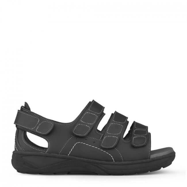 594f8d3e015 New Feet herresandal med regulerbar hælkappe - ekstra bred