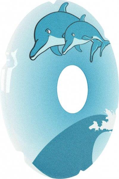 Egerbeskytter med delfin-motiv