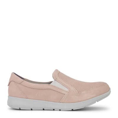 New Feet loafer i rosa nubuck.