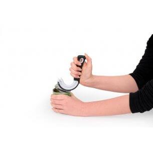Dåseåbner, god for ældre og personer med gigt, bruges til konserves og andre dåser med en ring