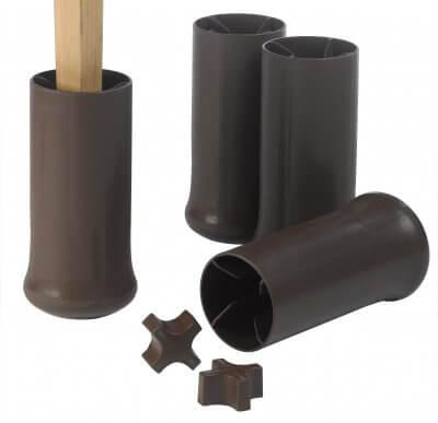 Forhøjerklodser, som kan reguleres fra 7,5 - 12 cm.