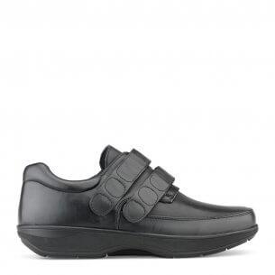 New Feet herresko i strækskind og med velcrolukning - ekstra bred