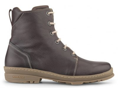 New Feet dame snørestøvle i brun skind