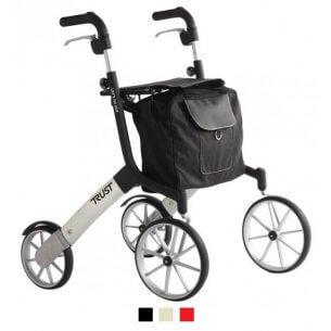 En elegant rollator med store forhjul