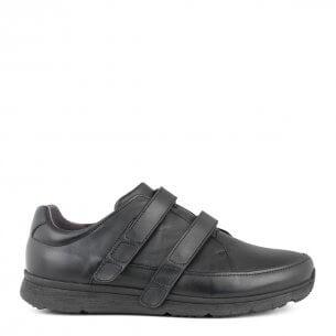 New Feet herresko i strækskind og med velcrolukning