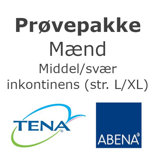 Image of   Prøvepakke til Mænd - middel til svær inkontinens (Str. L/XL)