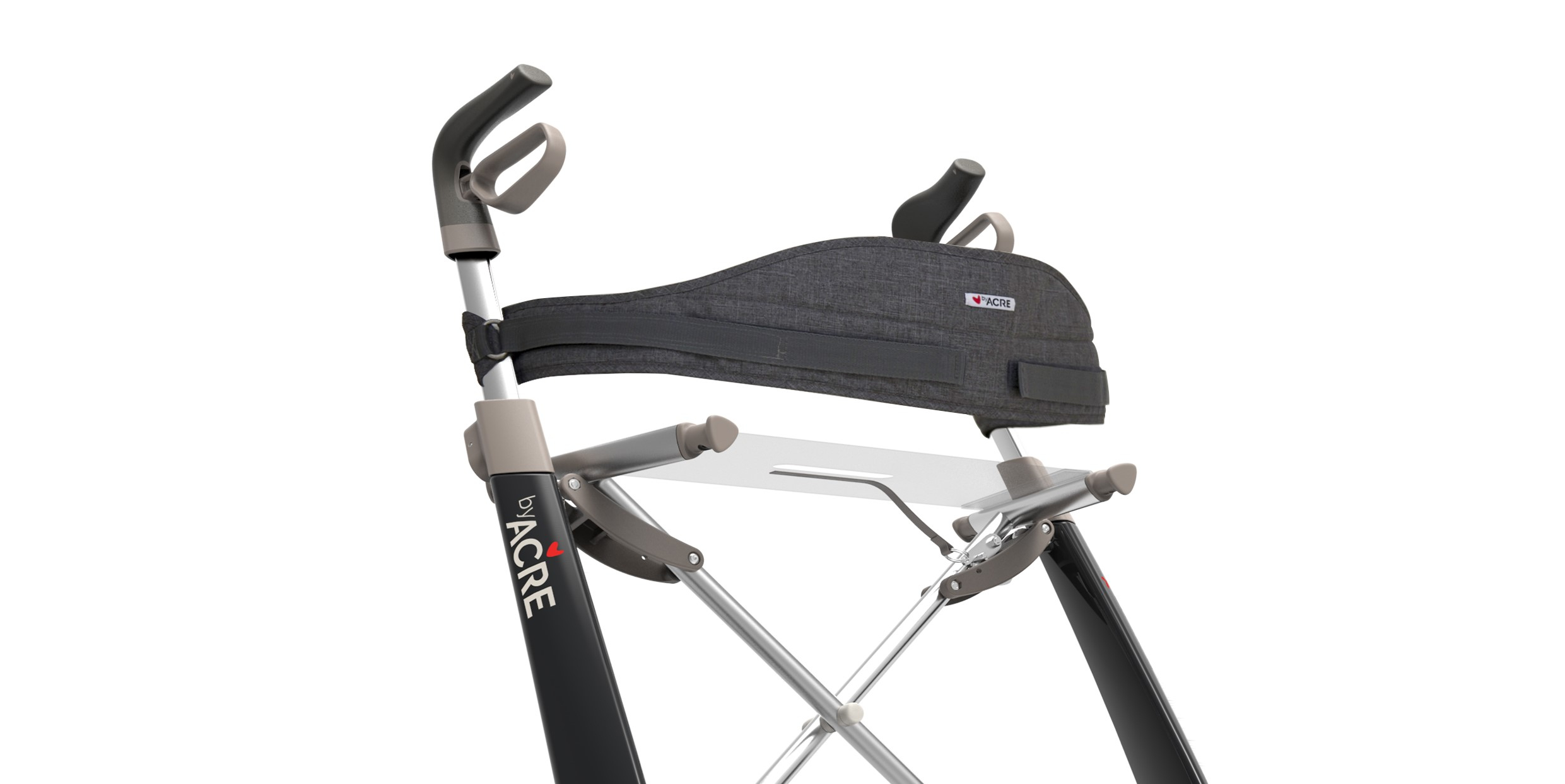 Image of   ByAcre - ryglæn til Carbon Ultralight rollator