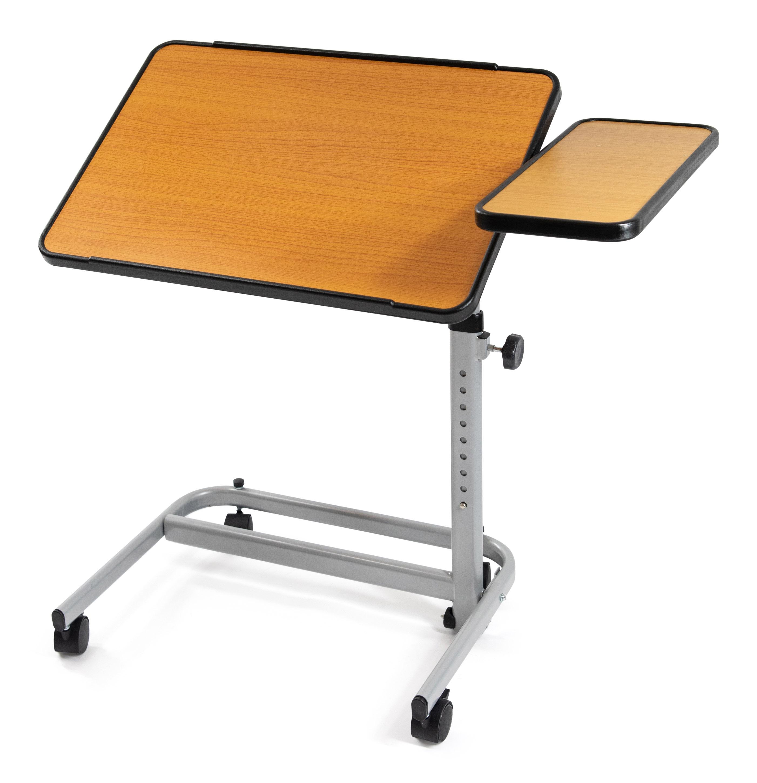 Sengebord på hjul (med sideplade)