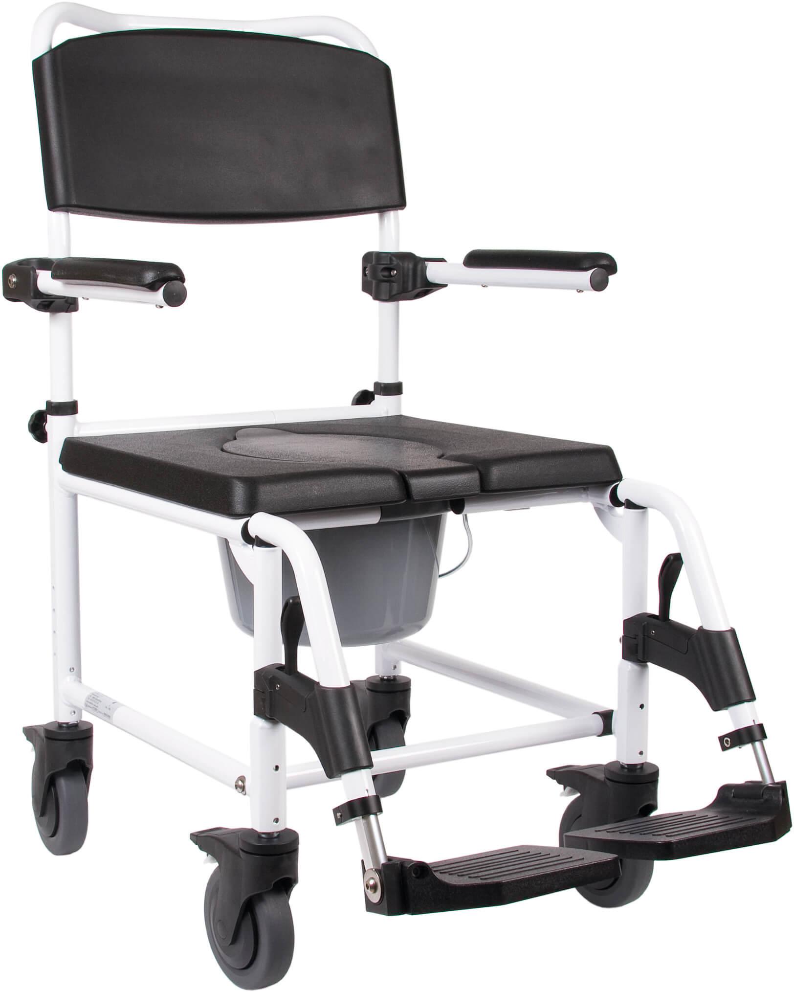 Toiletstol med hjul (bækkenstol) – pris 2899.00