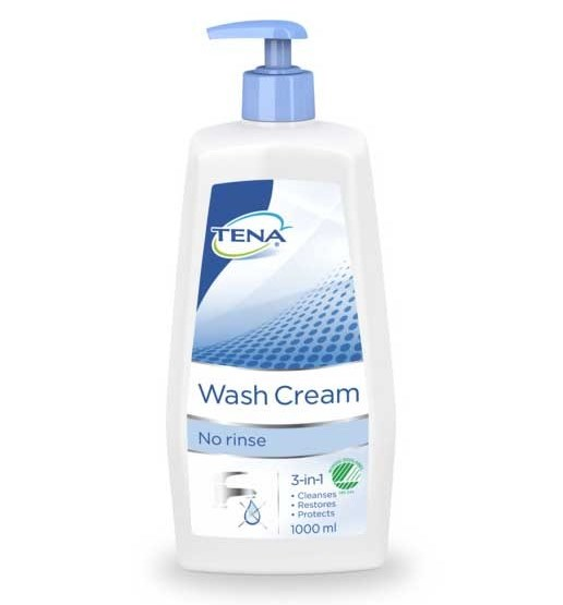 Tena Wash Cream (3 in 1), 1.000 ml.
